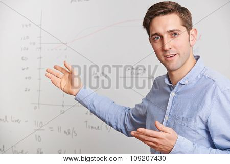 Teacher Standing In Front Of Whiteboard