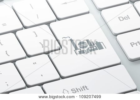 Industry concept: Oil And Gas Indusry on computer keyboard background