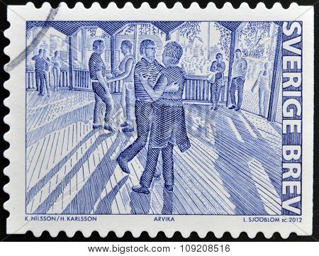 SWEDEN - CIRCA 2012: A stamp printed in Sweden dedicated to People's Parks circa 2012