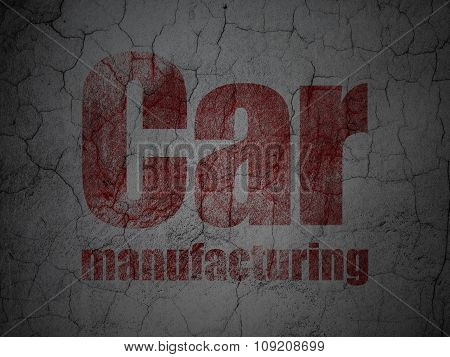 Industry concept: Car Manufacturing on grunge wall background