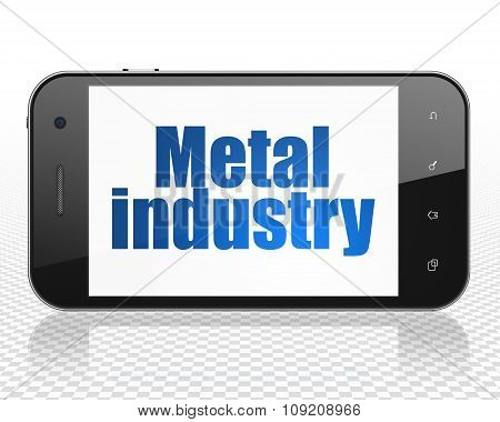 Manufacuring concept: Smartphone with Metal Industry on display