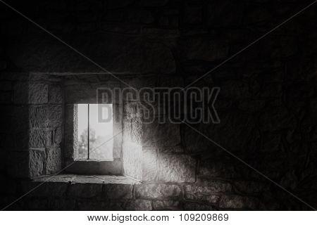 Window In A Medieval Castle