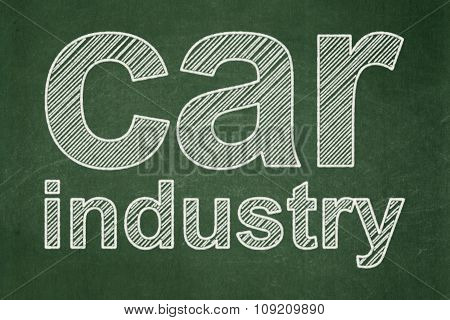 Industry concept: Car Industry on chalkboard background