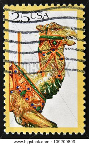 UNITED STATES OF AMERICA - CIRCA 1995: stamp printed in USA American Folk Art Series