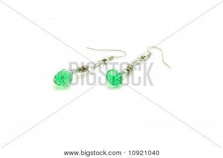 lime green swarovski earrings