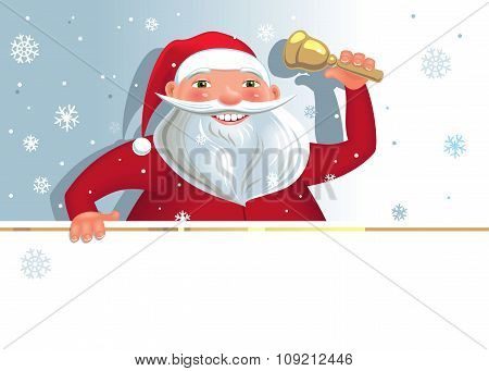 Santa with copy space