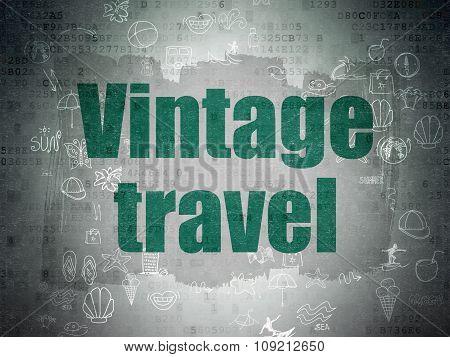 Vacation concept: Vintage Travel on Digital Paper background