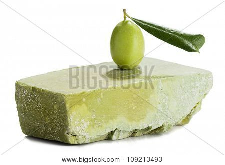 Green Olive Branch on Soap
