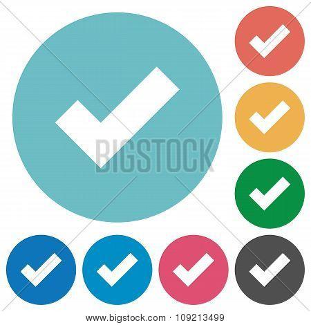 Flat Ok Icons