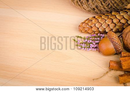 autumn background with empty space for text