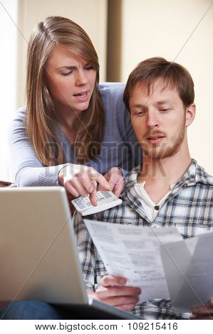Couple Arguing Over Home Finances