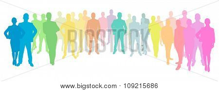 Business People Group in different colors