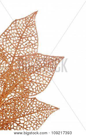 Christmas Decorative Orange Leaves