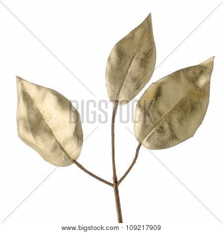 Christmas Decorative Golden Leaves