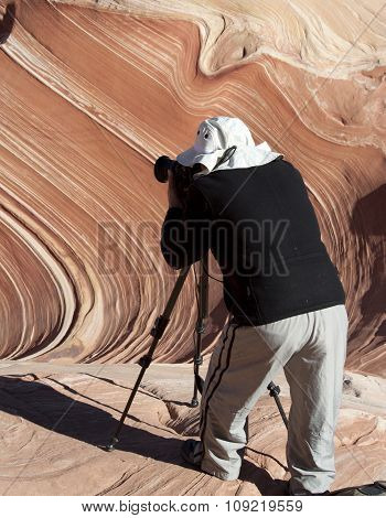 Photographer at Paria Canyon