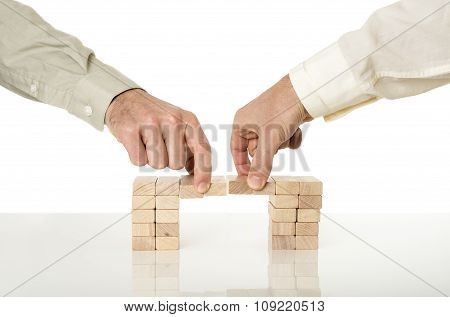 Conceptual Image Of Business Merger And Cooperation