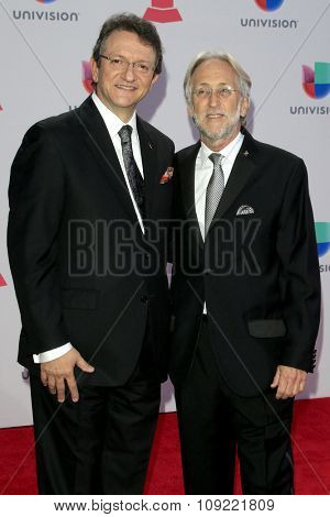 LAS VEGAS - NOV 19:  Gabriel Abaroa, Neil Portnow at the 16th Latin GRAMMY Awards at the MGM Grand Garden Arena on November 19, 2015 in Las Vegas, NV