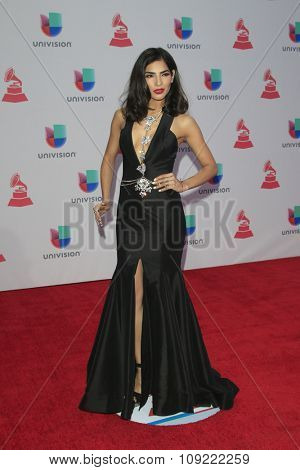 LAS VEGAS - NOV 19:  Alejandra Espinoza at the 16th Latin GRAMMY Awards at the MGM Grand Garden Arena on November 19, 2015 in Las Vegas, NV