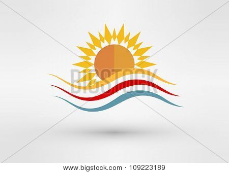 Sun Energy Logo Template