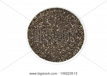 Black Chia Seeds In A Cup