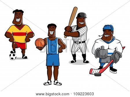 Cartoon sport game professional players