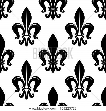 Royal fleur-de-lis floral seamless pattern