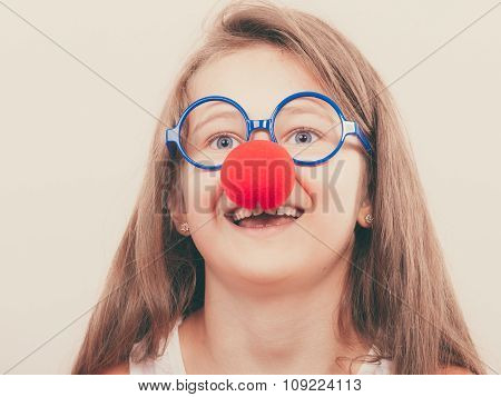 Little Girl With Red Nose
