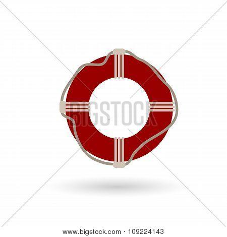 Lifebuoy Flat Colored Icon