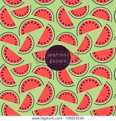 Seamless watermelon pattern.
