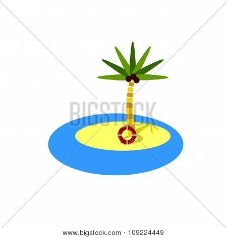 Paradise Island Flat Color Icon