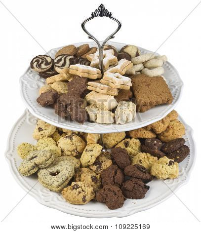 Plate Full of Small Butter Cookies