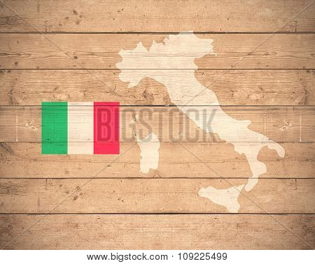 Map Of Italy - Elements of this image furnished by NASA