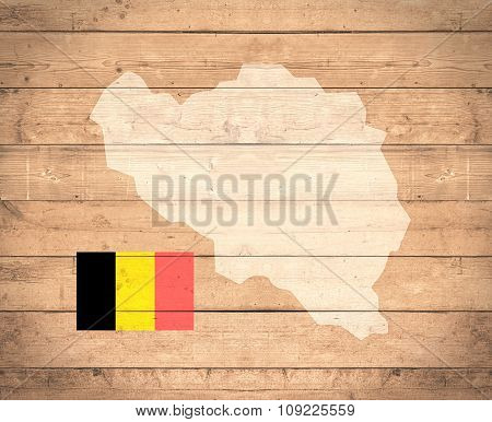 Map Of Belgium - Elements of this image furnished by NASA