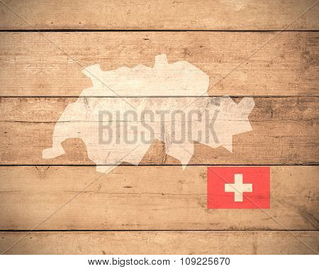 Map Of Switzerland - Elements of this image furnished by NASA