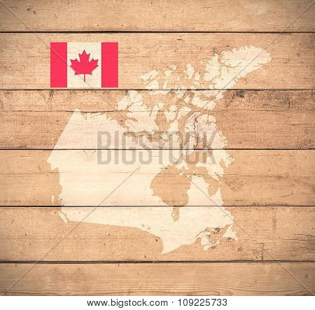 Map Of Canada - Elements of this image furnished by NASA