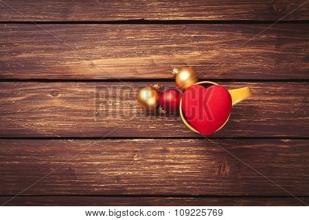 Baubles And Heart Shape Toy