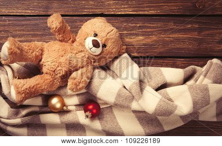 Teddy Bear Toy And Scarf