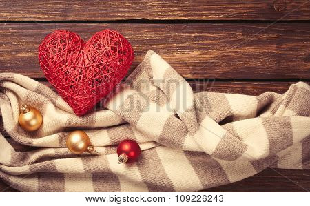 Heart Shape Toy And Scarf