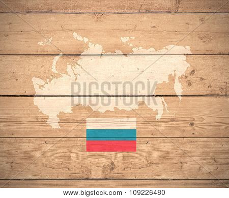 Map Of Russia - Elements of this image furnished by NASA
