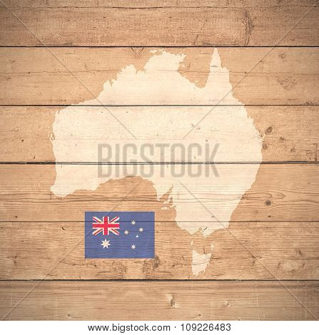 Map Of Australia - Elements of this image furnished by NASA