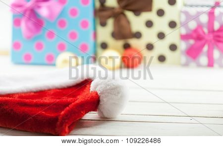 Santa Claus Hat And Gifts