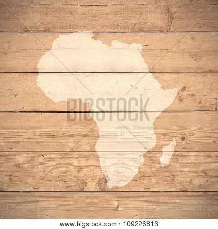 Map Of Africa - Elements of this image furnished by NASA