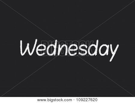 Wednesday written on a blackboard