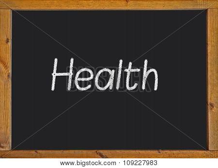 Health written on a blackboard