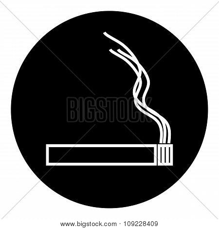 Cigarette Icon On White.