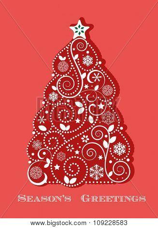 Red Christmas tree tree