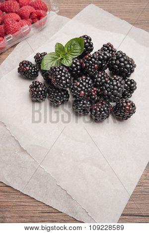 Fresh Organic Blackberries And Raspberries