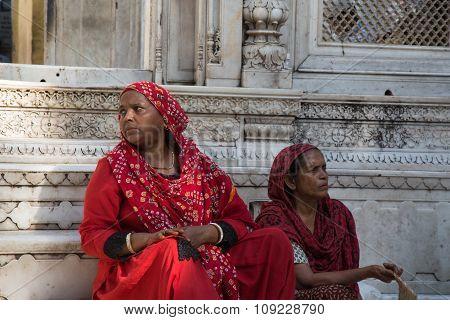 Indian Women Sitting