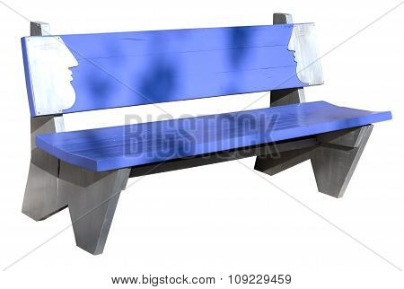 Wooden Bench Side View