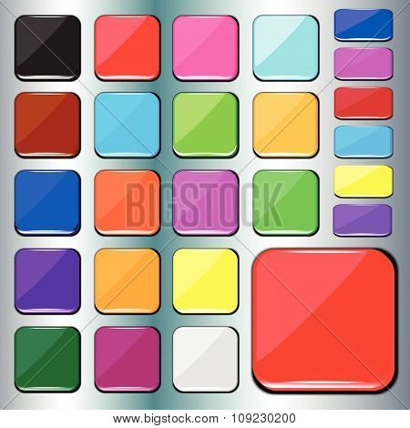 Colorful Square Buttons.